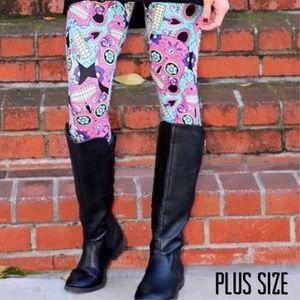 Pants - Plus Size Sugar Skull Leggings